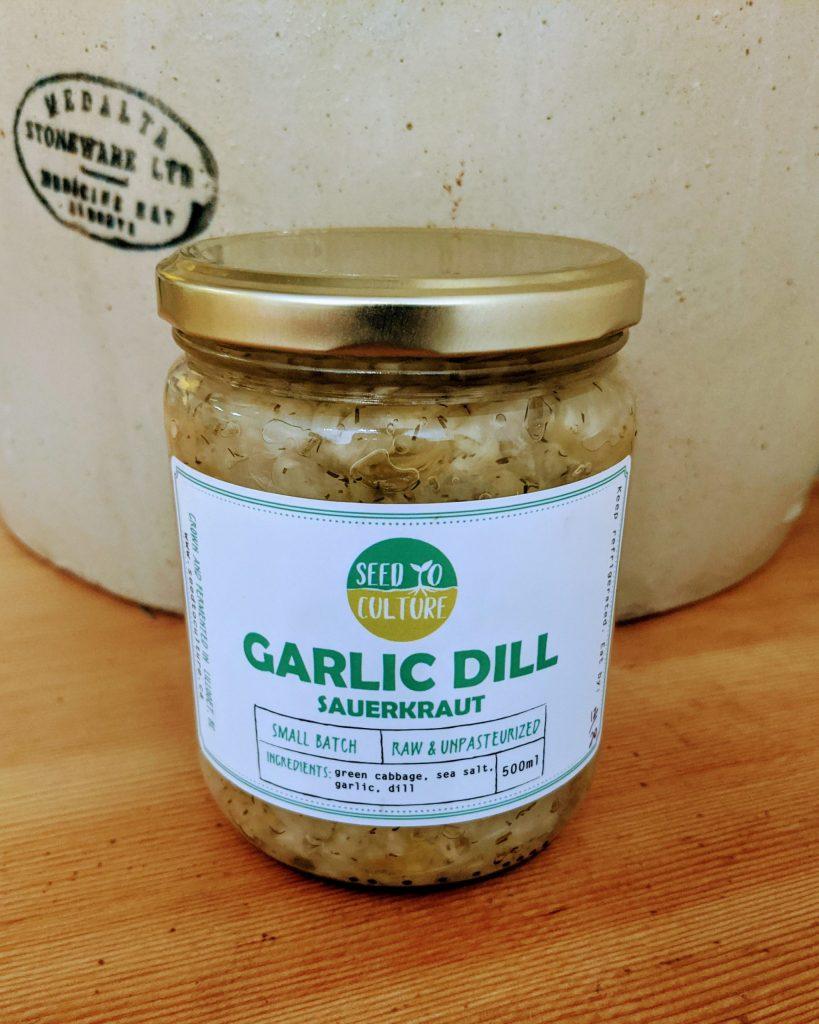 Garlic Dill Sauerkraut