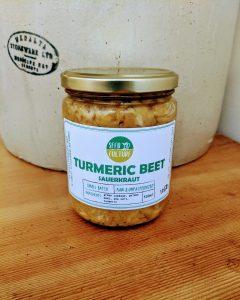 Turmeric Beet Sauerkraut